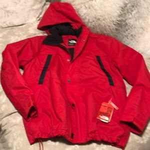 NWT The Northface XL urban explore red jacket